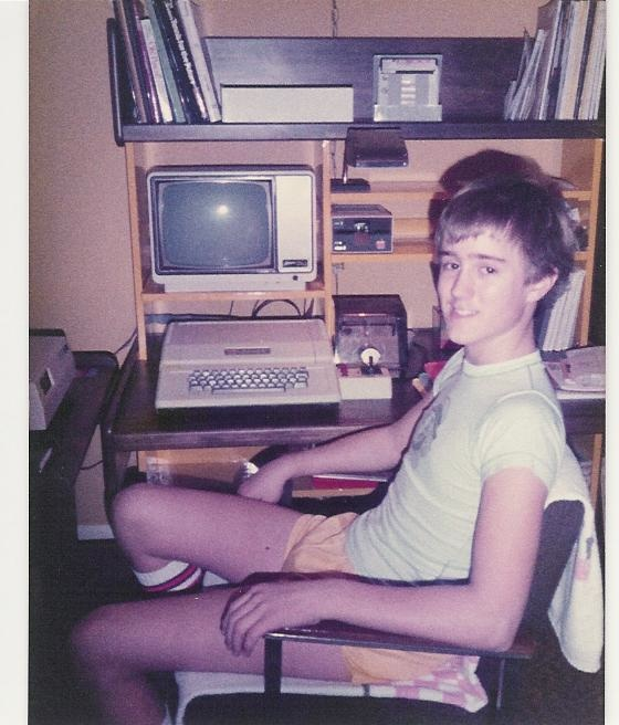 1985 Dave with Apple Computer bbs